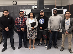 El Proyecto YouthSource Center participants that graduated from the Los Angeles Valley College Advanced Manufacturing Academy on May 21, 2019