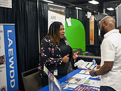 EWDD Business Services staff share information about the City's Financing Programs at the Small Business Expo on Wednesday October 30, 2019