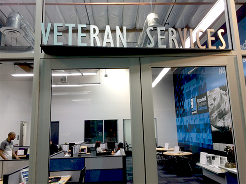 Veterans Services office at the Northeast Los Angeles WorkSource Center, operated by EWDD partner Goodwill of Southern California