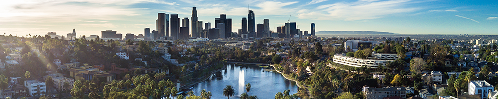 Panaramic View of Downtown Los Angeles from historic Echo Park; by Hal Bergman, iStock by Getty Images