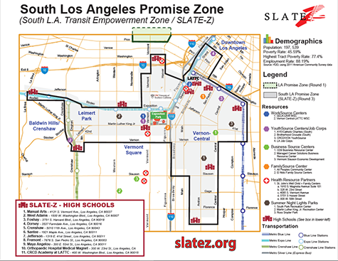 South Los Angeles Promise Zone map