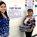 recent retiree Maria Mata (right) with her WorkSource Center career coach, Jessica Fuentes