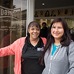 LA:RISE helped Catalina (left) transition to a career as a peer case manager in social services
