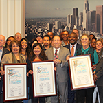 EWDD WorkSource Centers were recognized at City Hall this week for their involvement in the Targeted Local Hire Program