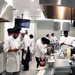The LA Hospitality Training Academy's new, fully equipped kitchen in the state-of-the-art Culinary Training Facility in Koreatown