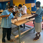 Compass Rose Collaborative Construction training participants learning carpenter apprentice skills