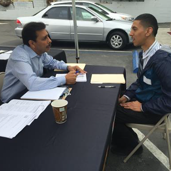 Local youth registers for Hire LA's Youth Summer Employment Program