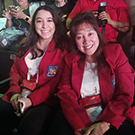 Amanda Goldberg and her mother Ellen Vogel at the Skills USA First Aid/CPR Contest, where Amanda won a gold medal