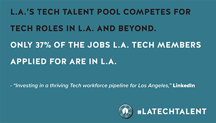 LA's Tech Talent pool competes for tech jobs in LA and beyond; #latechtalent