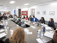 A view of the roundtable discussion held at the Watts Labor Community Action Committee hosted by Senator Kamala Harris (credit: Office of US Senator Kamala Harris)