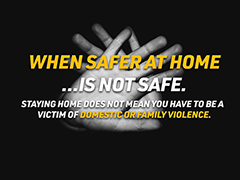 When Safer at Home is Not Safe - LAPD social media graphic for domestic abuse during the COVID-19 outbreak