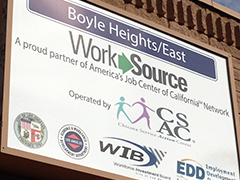 Boyle Heights/East WorkSource Center Sign