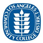 Los Angeles Community College District logo and website link